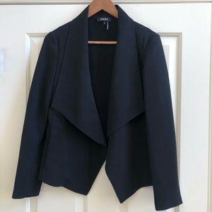 DKNY draped front black blazer